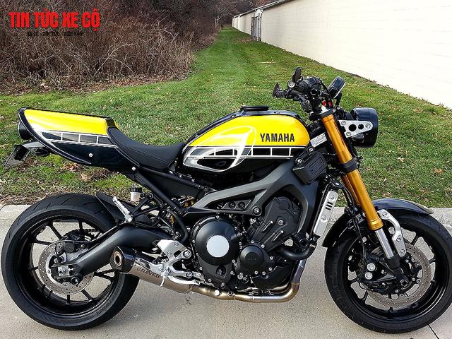 XSR 900 được hình thành từ XSR700 do hãng Yamaha kết hợp với chuyên gia độ xe Shinya Kimura