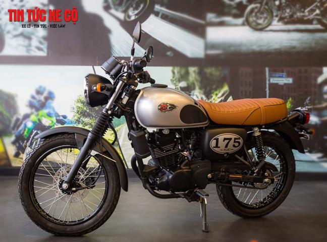 Kawasaki W175 có ngoại hình hoài cổ