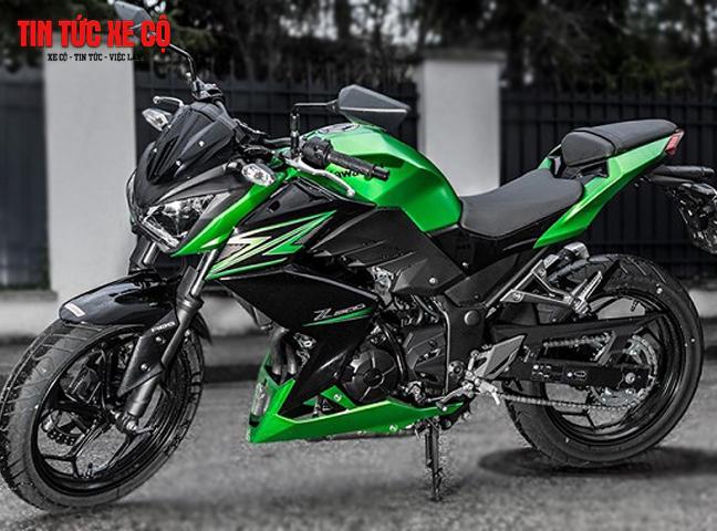 Kawasaki Z300 có thể tăng tốc từ 0-100km/h chỉ mất gần 20 giây, hệ thống lốp cùng phanh hoạt động cực kỳ mượt