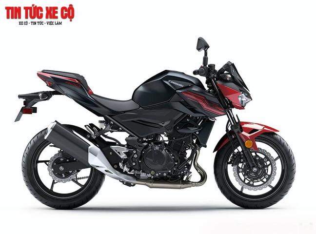 Kawasaki Z400 2019 với ngoại hình hoàn toàn mới đẹp hơn, mạnh mẽ hơn so với đàn anh Z300