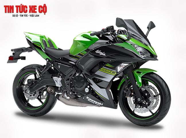 Ninja 650 sở hữu kiểu dáng góc cạnh đầy lôi cuốn tương tự chiếc superbike Ninja H2.