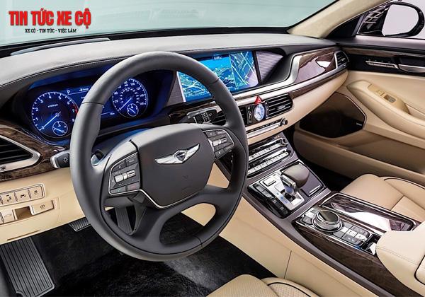 Khoảng lái với chỗ ngồi xe Genesis rộng rãi