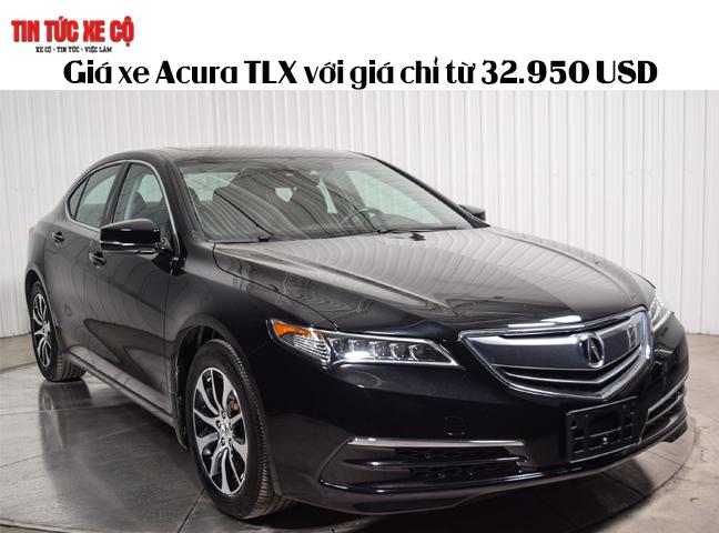 Giá xe Acura TLX với giá chỉ từ 32.950 USD