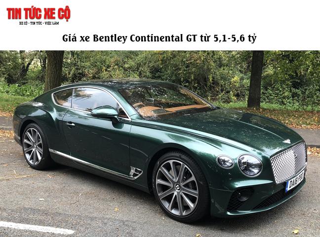 Giá xe Bentley Continental GT