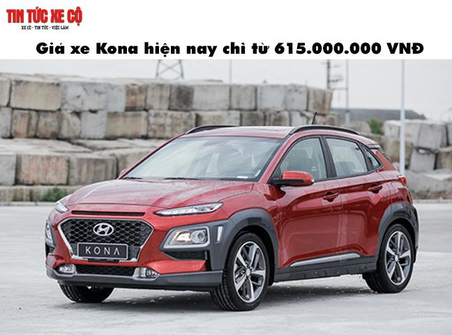 Giá xe Kona chỉ từ 615.000.000 VNĐ