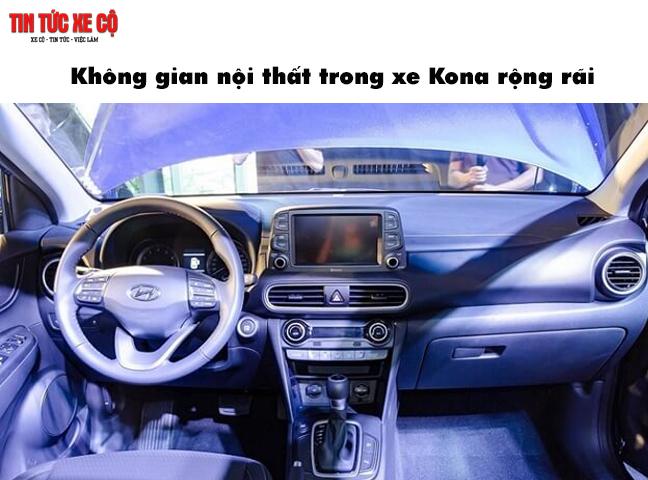 Không gian nội thất xe Kona rộng rãi
