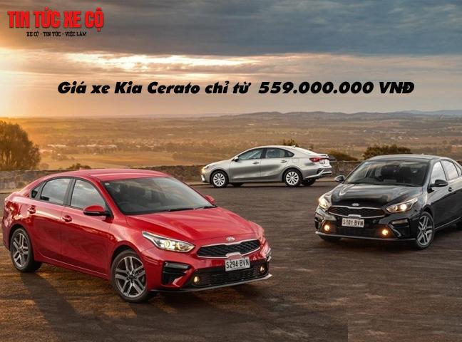Giá xe Kia Cerato chỉ từ 559.000.000 VNĐ