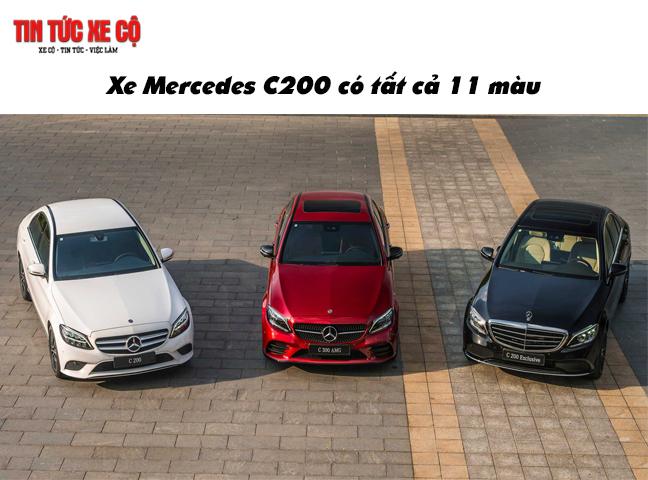 Xe Mercedes C200 có tất cả 11 màu