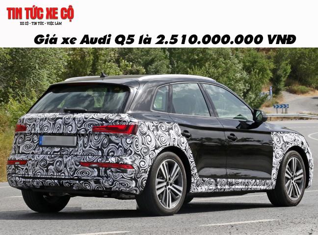 Giá xe Audi Q5 là 2.510.000.000