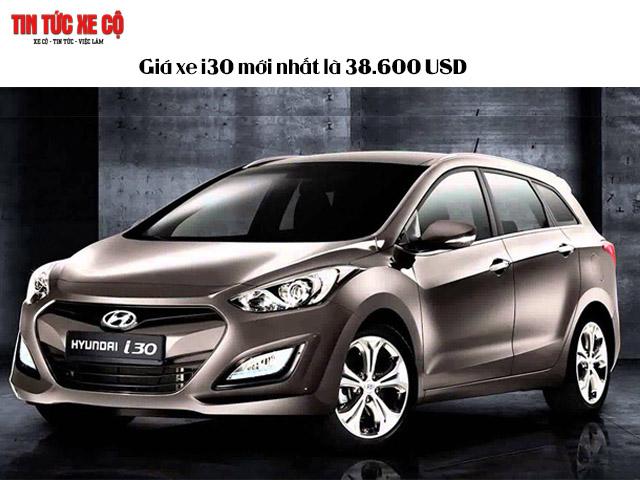 Giá xe i30 mới nhất là 38.600 USD