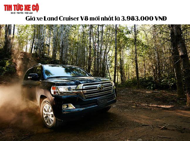 Giá xe Land Cruiser V8 mới nhất là 3983000000 VNĐ