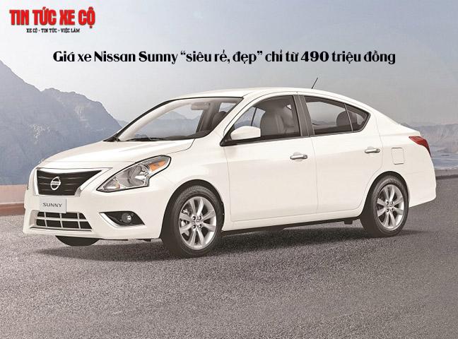 Giá xe Nissan Sunny chỉ từ 490 triệu đồng