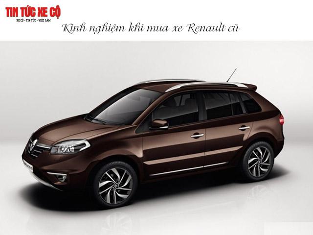 Kinh nghiệm khi mua xe Renault cũ