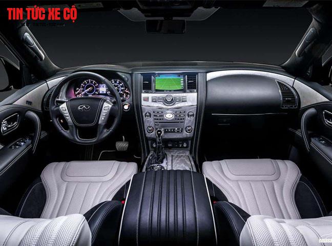 Nội thất QX80 được Nissan chú trọng với các chất liệu cao cấp