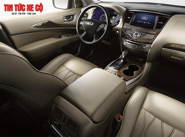 Nội thất QX60 được Nissan chú trọng với các chất liệu cao cấp