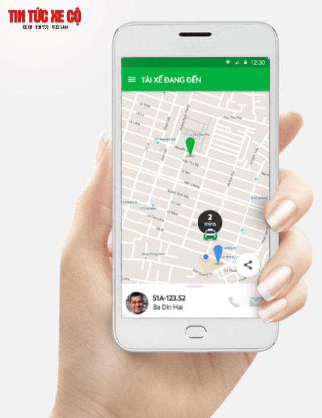 Bạn có thể theo dõi hành trình di chuyển của tài xế trên bản đồ