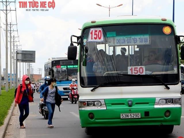 hình ảnh xe bus 150 tphcm