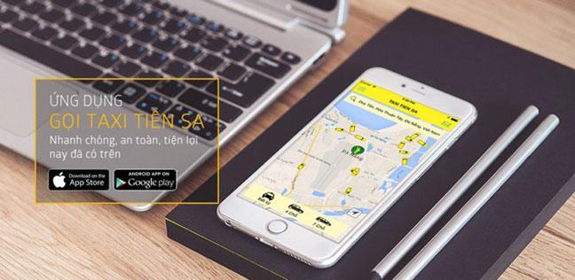 Khách hàng đặt taxi Tiên Sa tiện lợi hơn qua app