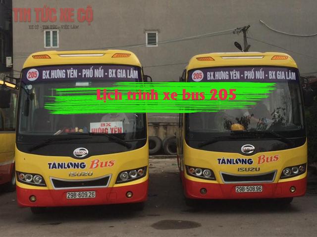 lộ trình xe bus 205 mới nhất