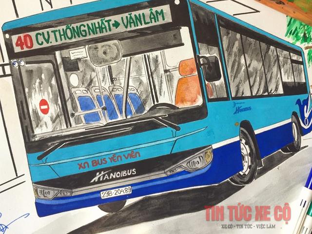 lộ trình xe bus 40 hà nội