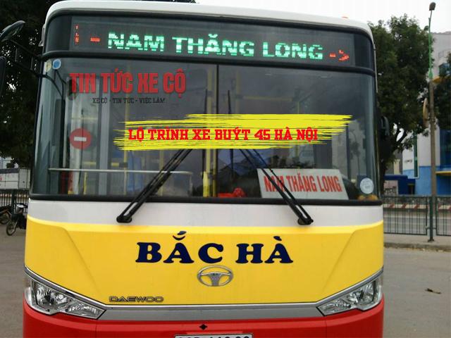 lộ trình xe buýt 45 hà nội tuyến time city đi bến xe nam thăng long