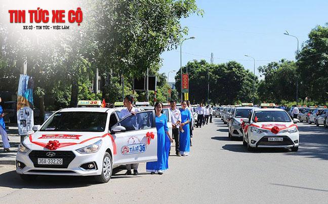 Taxi 36 đã phủ sóng trên khắp trung tâm thành phố Thanh Hóa và nhiều huyện, xã lân cận