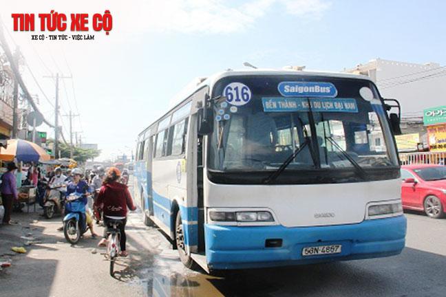 Xe bus 616 phục vụ khách 16 chuyến/ngày