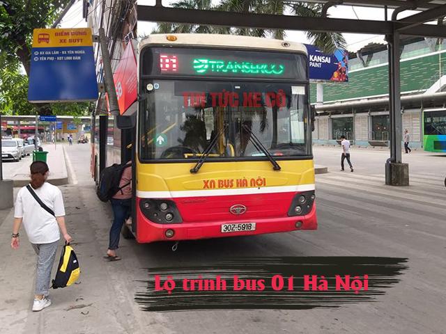 lộ trình xe buýt 01 hà nội