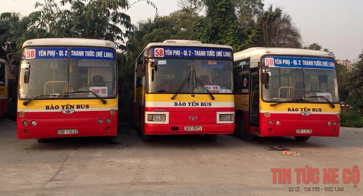 xe buýt 58 hà nội