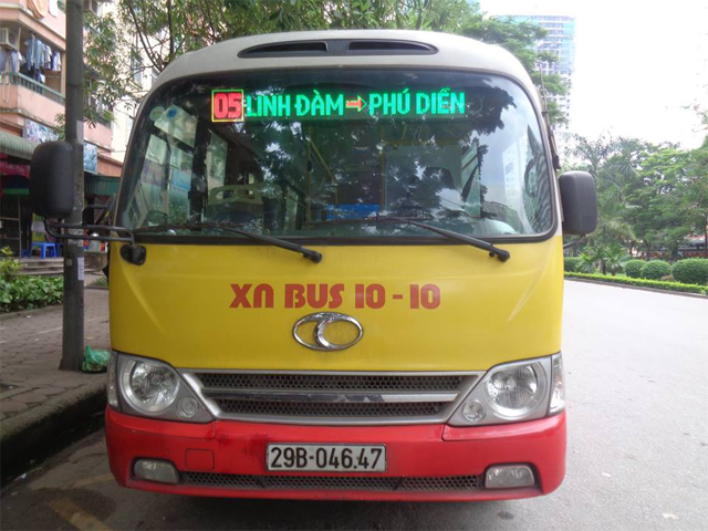 xe buýt số 5 hà nội