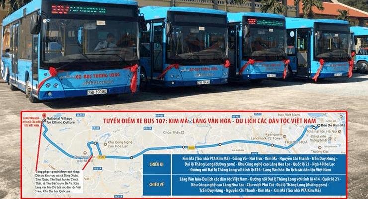 lộ trình xe bus 107 hà nội
