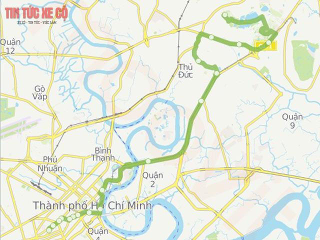 bản đồ tuyến bus 65 tphcm