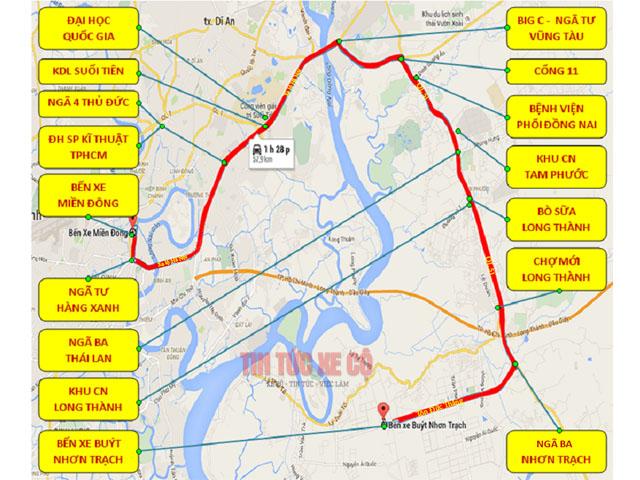 bản đồ xe bus 603 tphcm