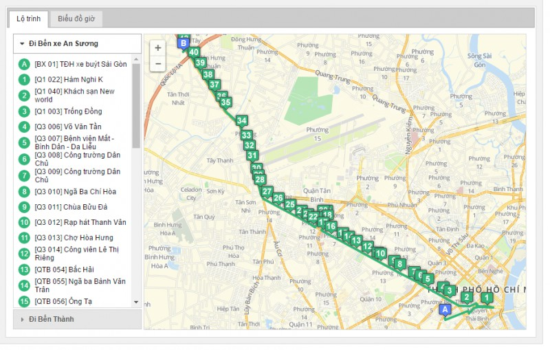 bản đồ tuyến xe bus 65 tphcm