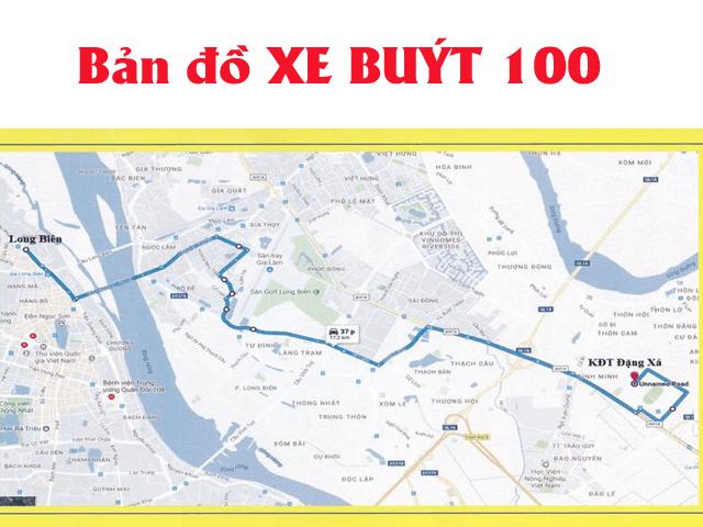 bản đồ xe buýt 100 hà nội
