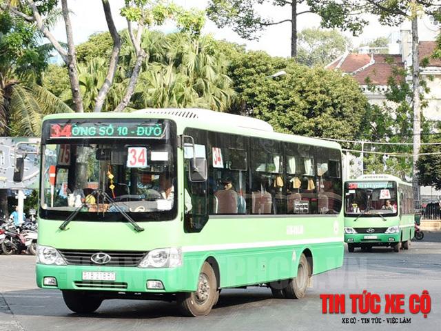 hình ảnh xe bus 34 tphcm