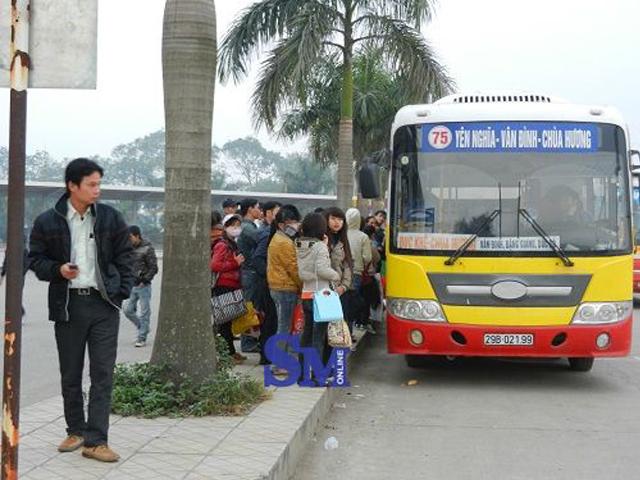xe bus 75 hà nội