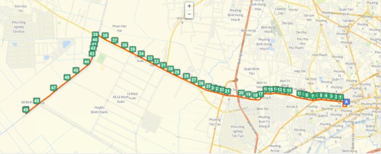 bản đồ xe bus 81 tphcm