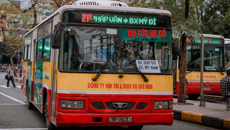 lộ trình xe bus 21b hà nội