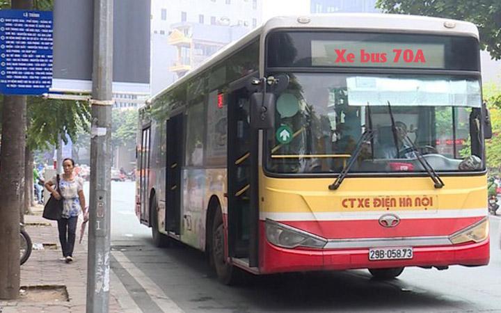 xe buýt 70a hà nội