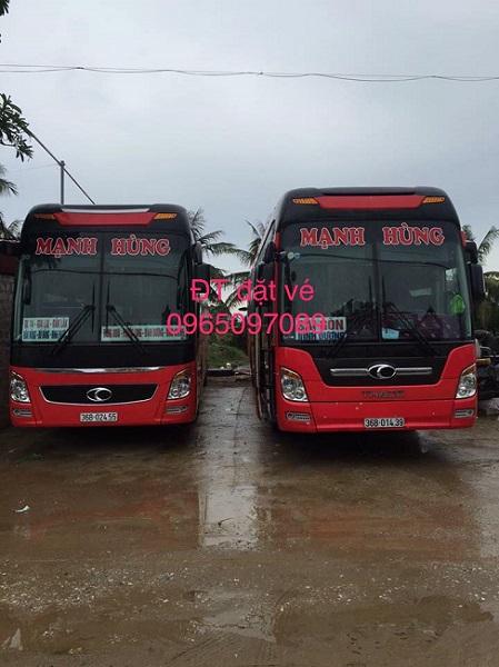 Nhà xe Mạnh Hùng chạy tuyến cố định Thái Bình – Hà Nội