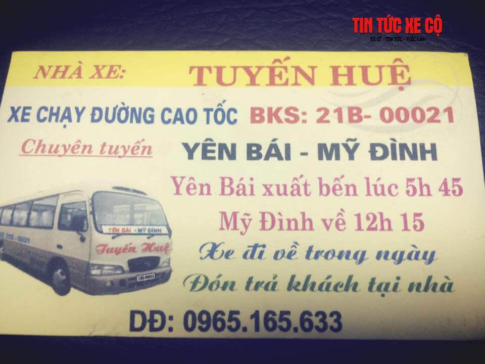 Số điện thoại xe khách Tuyến Huệ