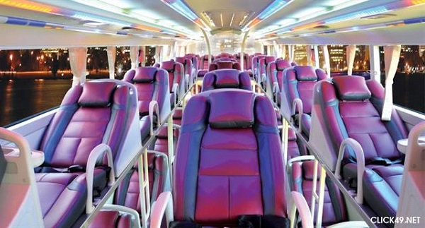 Xe khách Mạnh Hùng có đầy đủ thiết bị tiện nghi
