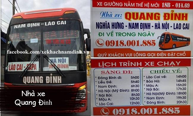 Nhà xe Quang Đỉnh Nam Định