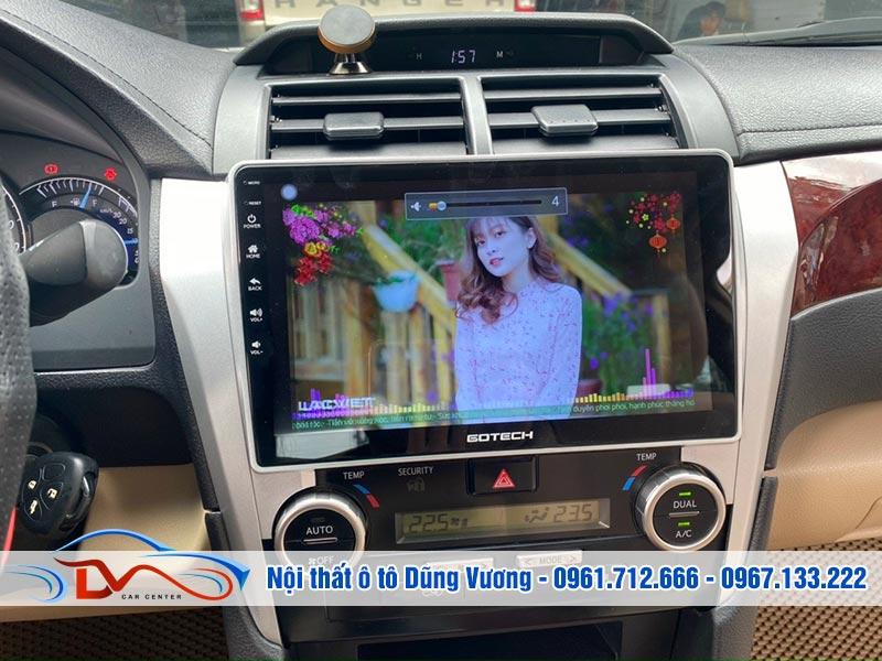 Màn hình Android trên xe Camry 2012-2014